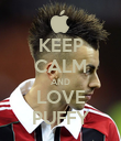 KEEP CALM AND LOVE PUFFY - Personalised Poster large