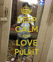 KEEP CALM AND LOVE PuLkiT - Personalised Poster large