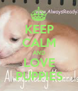 KEEP CALM AND LOVE PUPPIES - Personalised Poster large