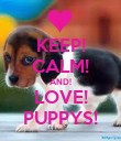 KEEP! CALM! AND! LOVE! PUPPYS! - Personalised Poster large