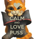 KEEP CALM AND LOVE PUSS  - Personalised Poster large