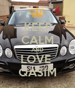 KEEP CALM AND LOVE  QASIM - Personalised Poster large