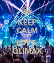 KEEP CALM AND LOVE  QLIMAX - Personalised Poster large