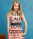 KEEP CALM AND LOVE QUINN - Personalised Poster large