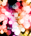KEEP CALM AND Love Rachel.CEJ - Personalised Poster large