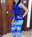 KEEP CALM AND Love  Raine - Personalised Poster large