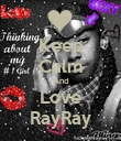 Keep Calm And Love RayRay - Personalised Poster large