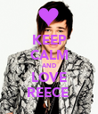 KEEP CALM AND LOVE REECE  - Personalised Poster large