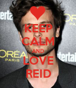 KEEP CALM AND LOVE REID - Personalised Poster large