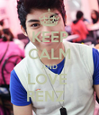 KEEP CALM AND LOVE  RENZ   - Personalised Poster large