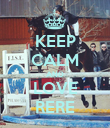 KEEP CALM AND LOVE RERE - Personalised Poster large