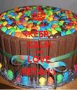 KEEP CALM AND LOVE RETAH:) - Personalised Poster large