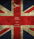 KEEP CALM AND LOVE REVOLUTIONX - Personalised Poster large