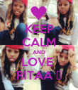 KEEP CALM AND LOVE  RITAA ♥ - Personalised Poster small