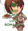 KEEP CALM AND LOVE ROMANO ~ - Personalised Poster large