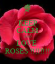 KEEP CALM AND LOVE  ROSES !!!!!!!! - Personalised Poster large