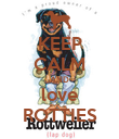 KEEP CALM AND love ROTTIES - Personalised Poster large