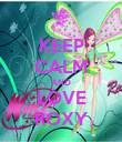 KEEP CALM AND LOVE ROXY - Personalised Poster large
