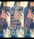 KEEP CALM AND LOVE  ROXY ♥ - Personalised Poster large