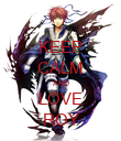 KEEP CALM AND LOVE ROY - Personalised Poster large