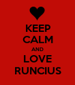 KEEP CALM AND LOVE RUNCIUS - Personalised Poster large
