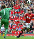 KEEP CALM AND LOVE  RVP - Personalised Poster large
