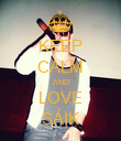 KEEP CALM AND LOVE SÁIK - Personalised Poster large
