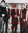 KEEP CALM AND LOVE S.T. - Personalised Poster large
