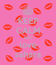 KEEP CALM AND love sahara - Personalised Poster small
