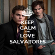 KEEP CALM AND LOVE SALVATORES - Personalised Poster large