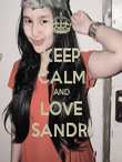 KEEP CALM AND LOVE SANDRI - Personalised Poster large