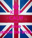 KEEP CALM AND love sassie baranski - Personalised Poster large