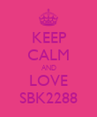 KEEP CALM AND LOVE SBK2288 - Personalised Poster large