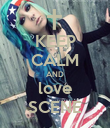 KEEP CALM AND love SCENE - Personalised Poster large