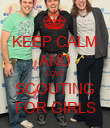 KEEP CALM AND LOVE SCOUTING FOR GIRLS - Personalised Poster large