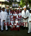 KEEP CALM AND LOVE SEA CADET UNIT - Personalised Poster large