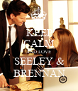 KEEP CALM AND LOVE SEELEY & BRENNAN - Personalised Poster large