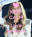 KEEP CALM AND Love SeoRoro - Personalised Poster large