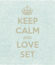 KEEP CALM AND LOVE SET - Personalised Poster large