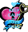 KEEP CALM AND LOVE SHAE - Personalised Poster large