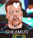 KEEP CALM AND LOVE SHEAMUS - Personalised Poster large