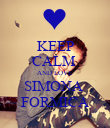KEEP CALM  AND LOVE SIMONA  FORMICA - Personalised Poster large