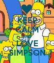 KEEP CALM AND LOVE SIMPSON - Personalised Poster large