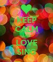 KEEP CALM AND LOVE SING - Personalised Poster large