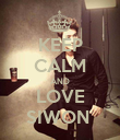 KEEP CALM AND LOVE SIWON  - Personalised Poster large