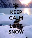 KEEP CALM AND LOVE SNOW - Personalised Poster large