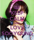 KEEP CALM AND LOVE SOOYOUNG - Personalised Poster large