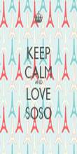 KEEP CALM AND LOVE SOSO - Personalised Poster large