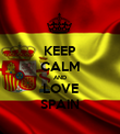 KEEP CALM AND LOVE SPAIN - Personalised Poster large