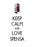 KEEP CALM AND LOVE SPENSA - Personalised Poster large
